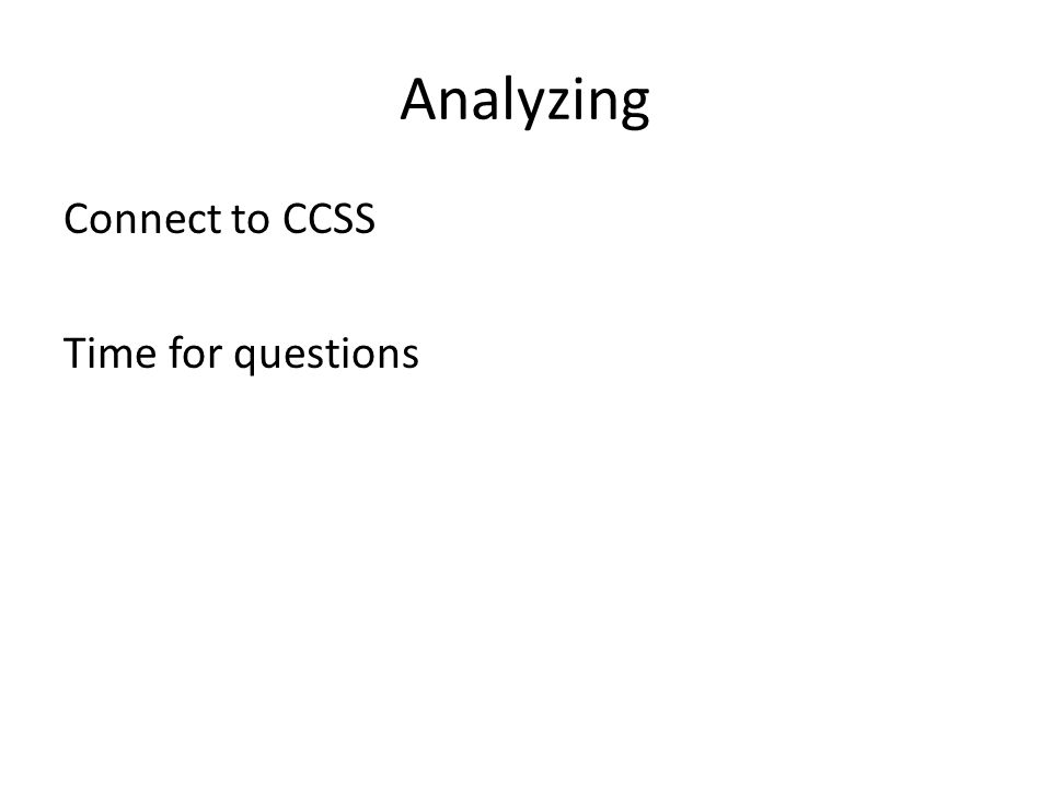 Analyzing Connect to CCSS Time for questions
