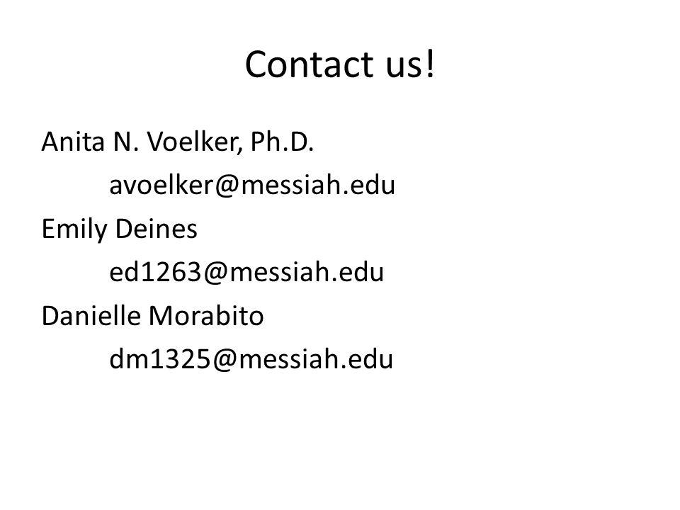 Contact us.Anita N. Voelker, Ph.D.