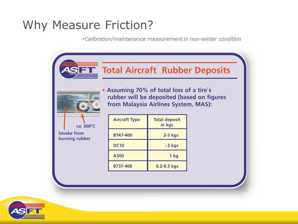 Why Measure Friction? - Calibration/maintenance measurement in non-winter condition