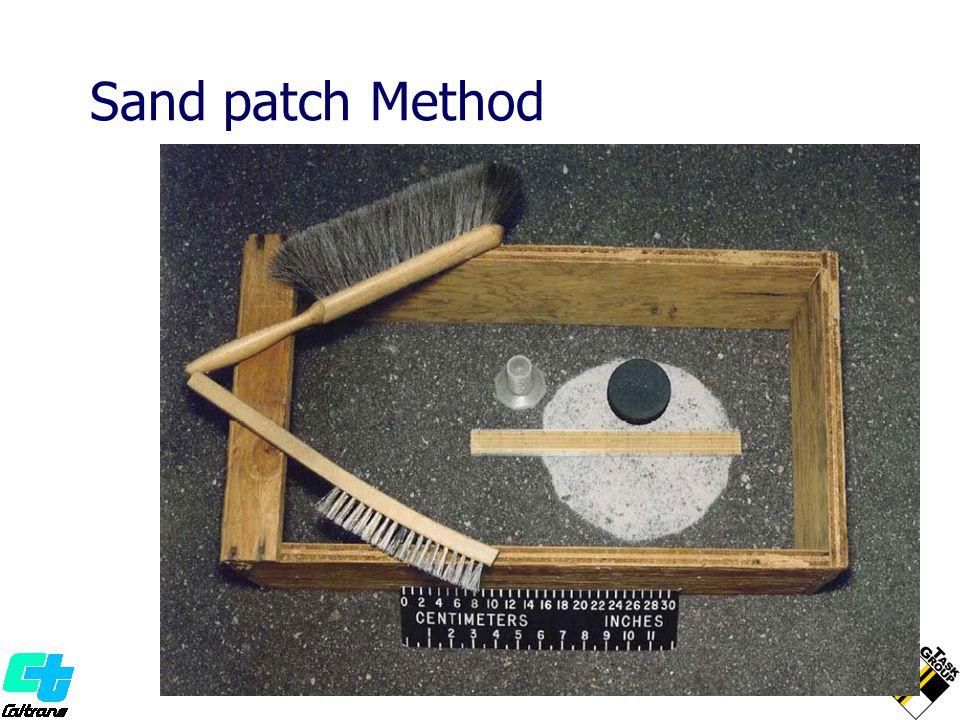 Sand patch Method