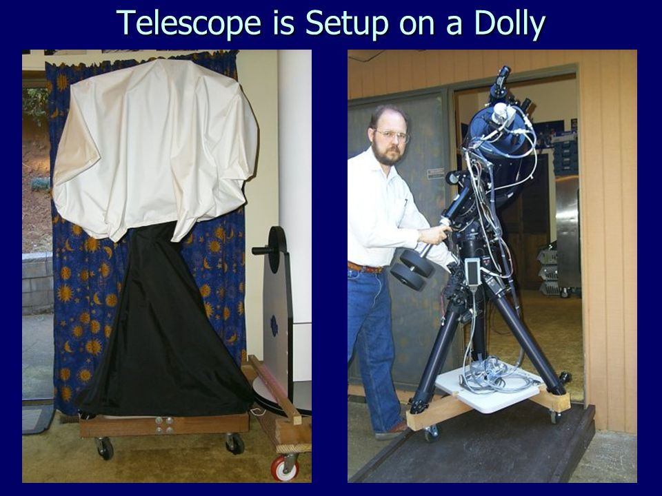 Telescope is Setup on a Dolly