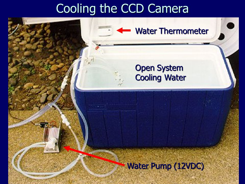Open System Cooling Water Water Thermometer Water Pump (12VDC) Cooling the CCD Camera