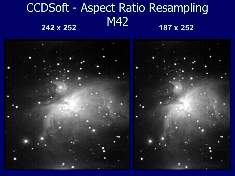 242 x 252 187 x 252 CCDSoft - Aspect Ratio Resampling M42