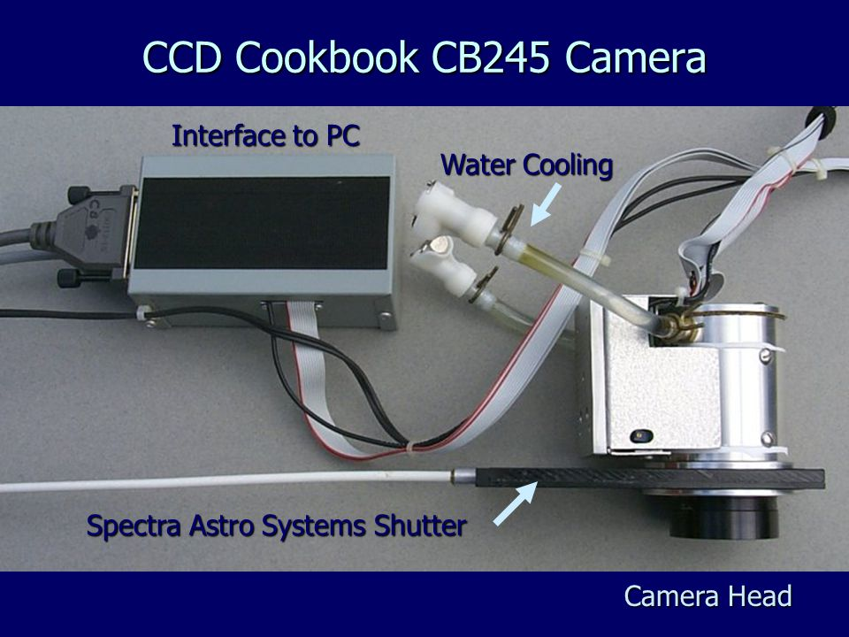 Interface to PC Camera Head Spectra Astro Systems Shutter CCD Cookbook CB245 Camera Water Cooling