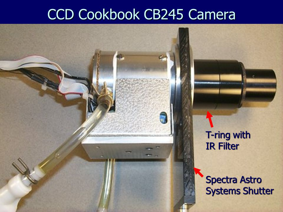 CCD Cookbook CB245 Camera T-ring with IR Filter Spectra Astro Systems Shutter