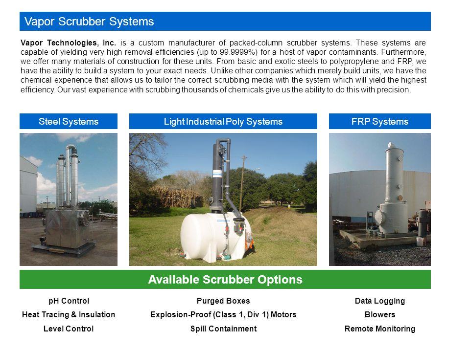 Vapor Scrubber Systems Vapor Technologies, Inc.