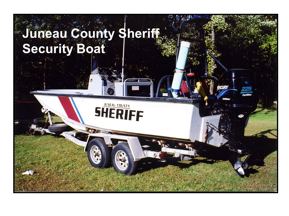 Juneau County Sheriff Security Boat