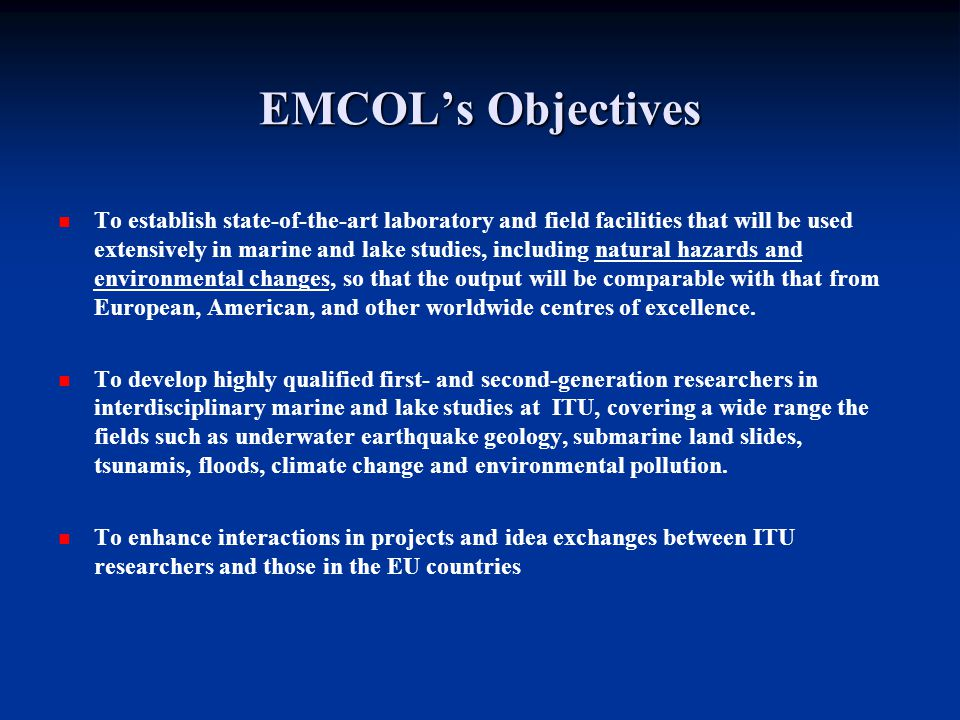 EMCOL MANAGEMENT STRUCTURE