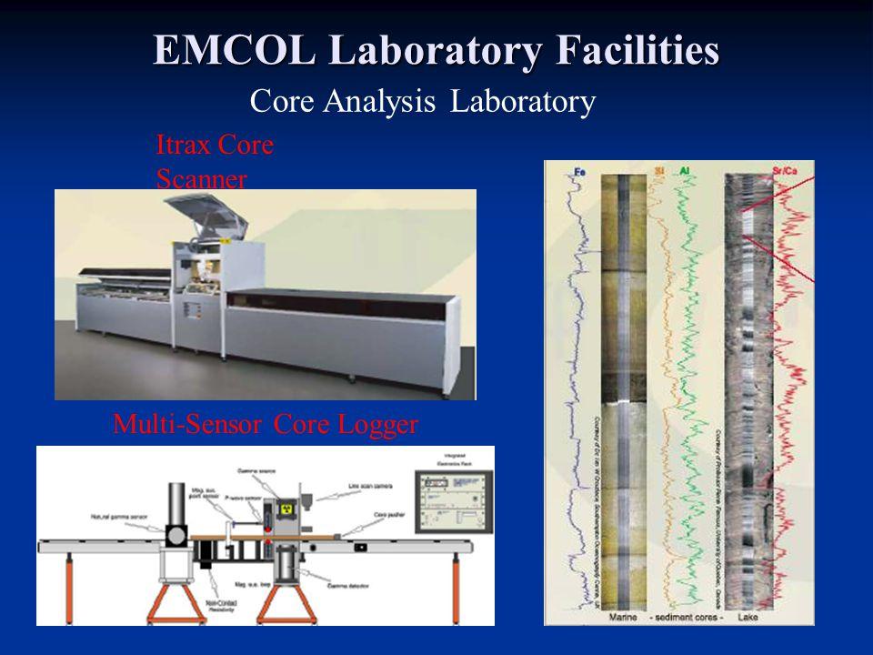 EMCOL Laboratory Facilities Itrax Core Scanner Multi-Sensor Core Logger Core Analysis Laboratory