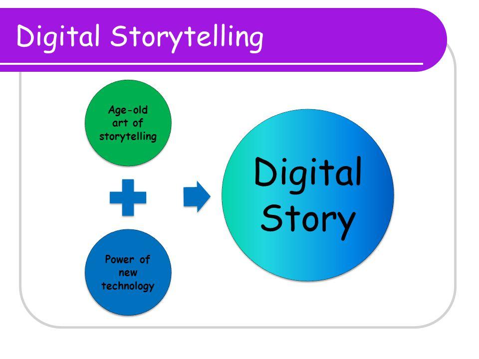 Digital Storytelling Age-old art of storytelling Power of new technology Digital Story
