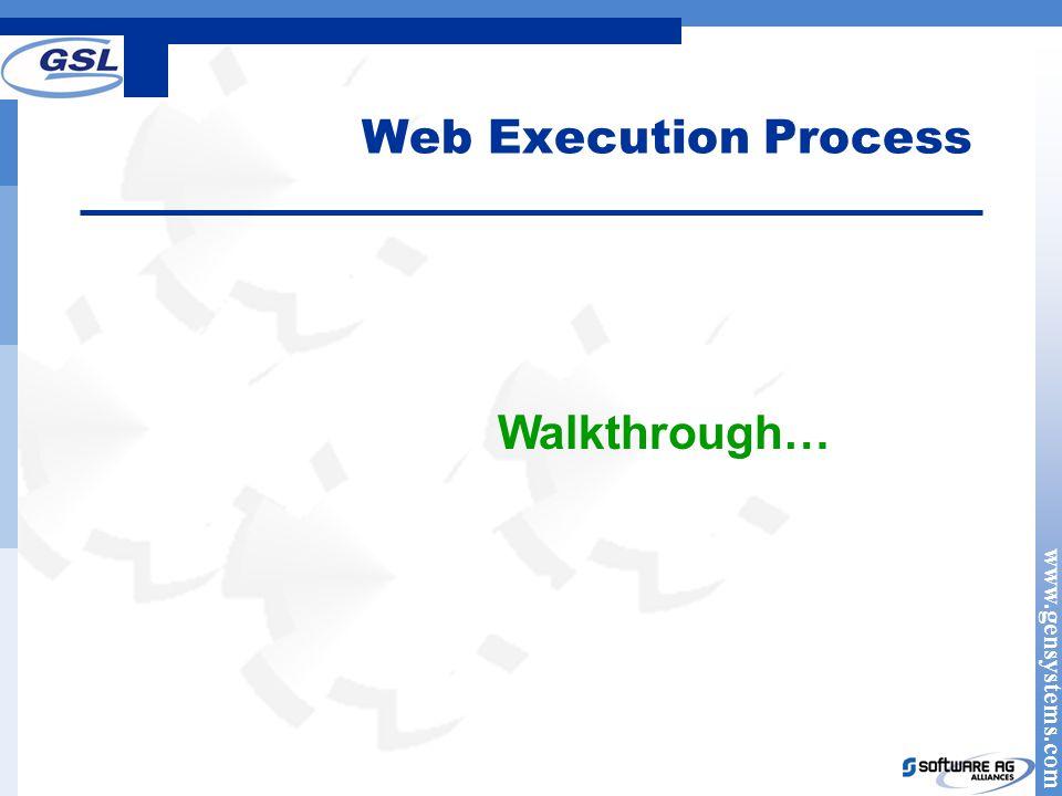 Web Execution Process Walkthrough…