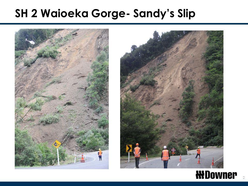 SH 2 Waioeka Gorge- Sandy's Slip 2