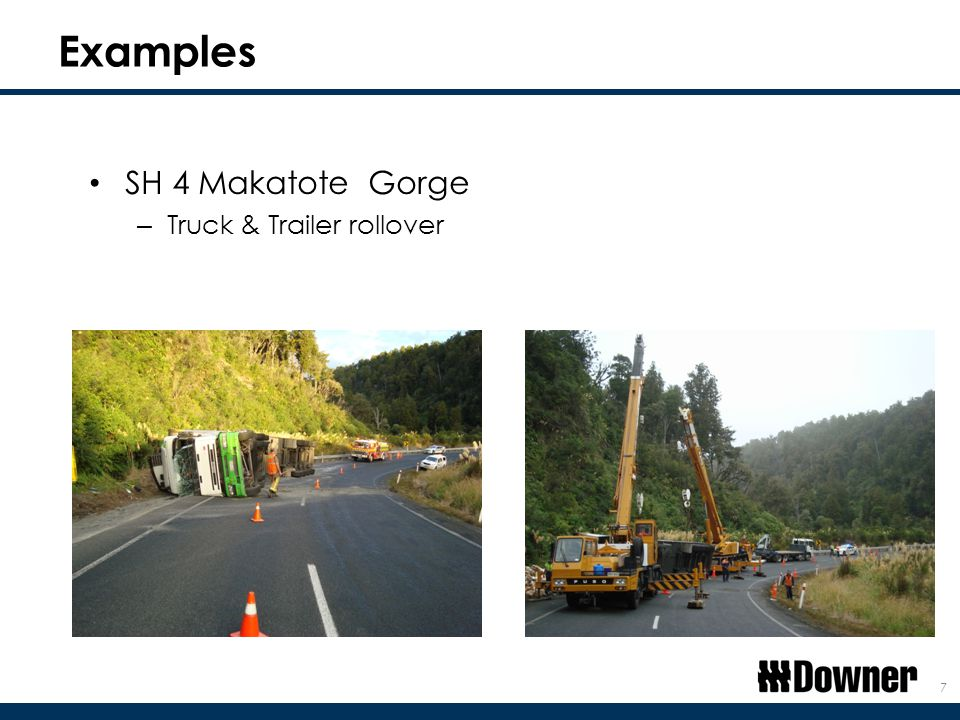 Examples SH 4 Makatote Gorge – Truck & Trailer rollover 7