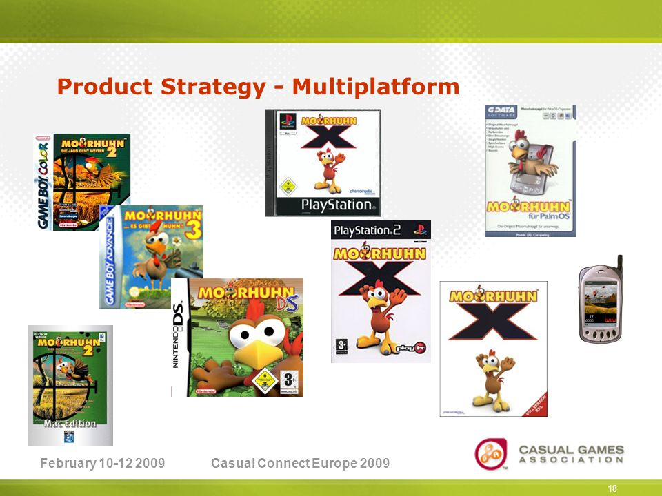 February 10-12 2009Casual Connect Europe 2009 18 Product Strategy - Multiplatform