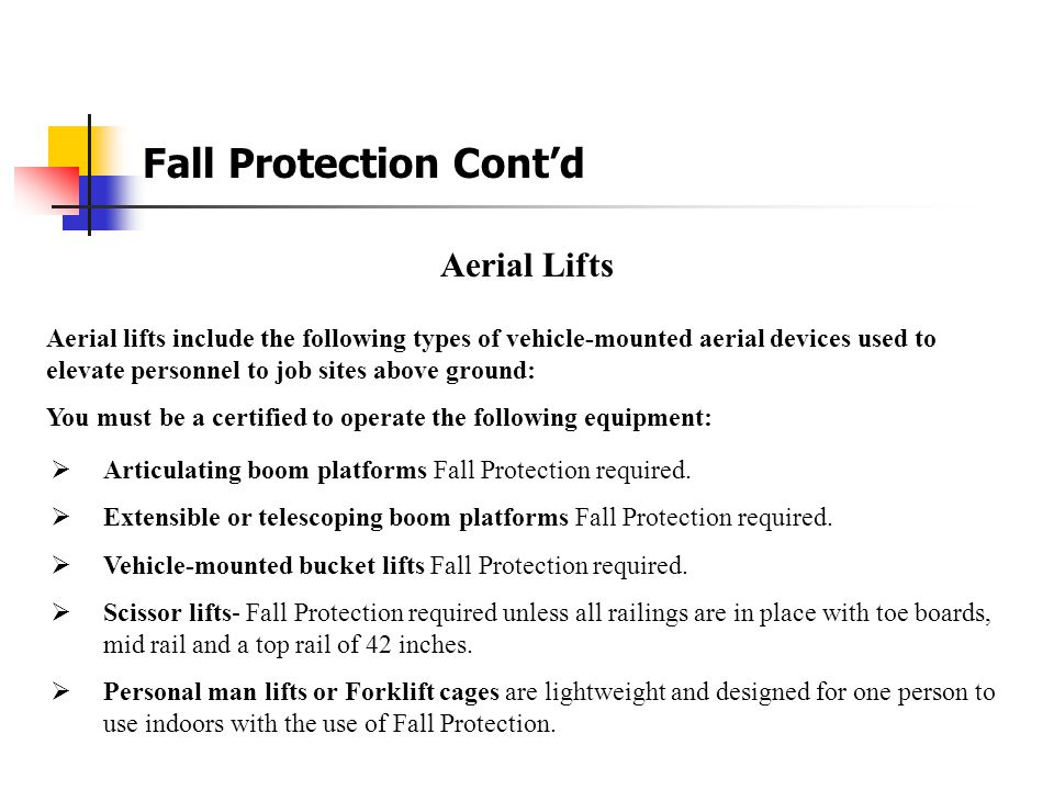 Fall Protection Fall Protection at NEP The NEP's Fall Protection Program will apply to all employees who are exposed to unprotected sides or edges of