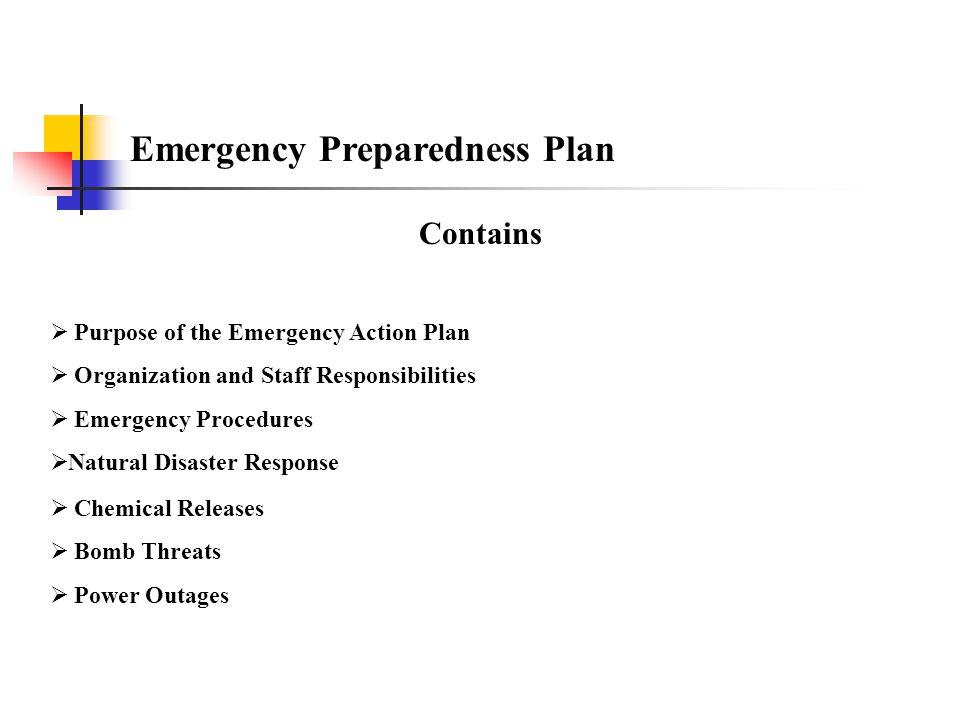 Emergency Preparedness Plan At Screenworks/Livepower