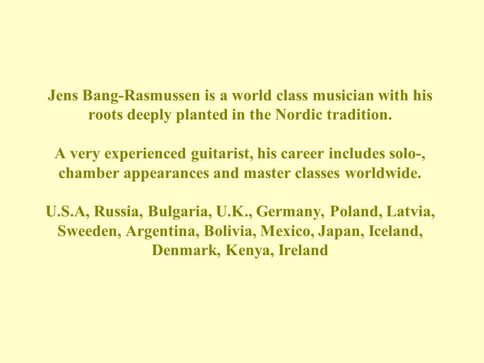 Jens Bang Rasmussen's field of specialization is nineteenth century music.