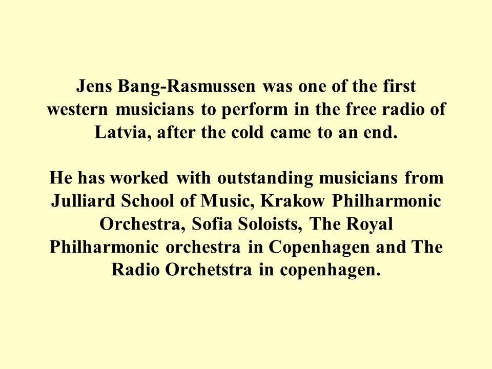 Contact: Jens Bang-Rasmussen Frejasgade 14 2.tv DK-2200 Copenhagen N.
