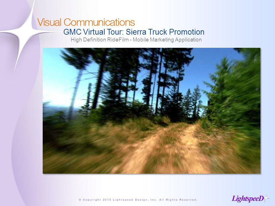 GMC Virtual Tour: Sierra Truck Promotion High Definition RideFilm - Mobile Marketing Application