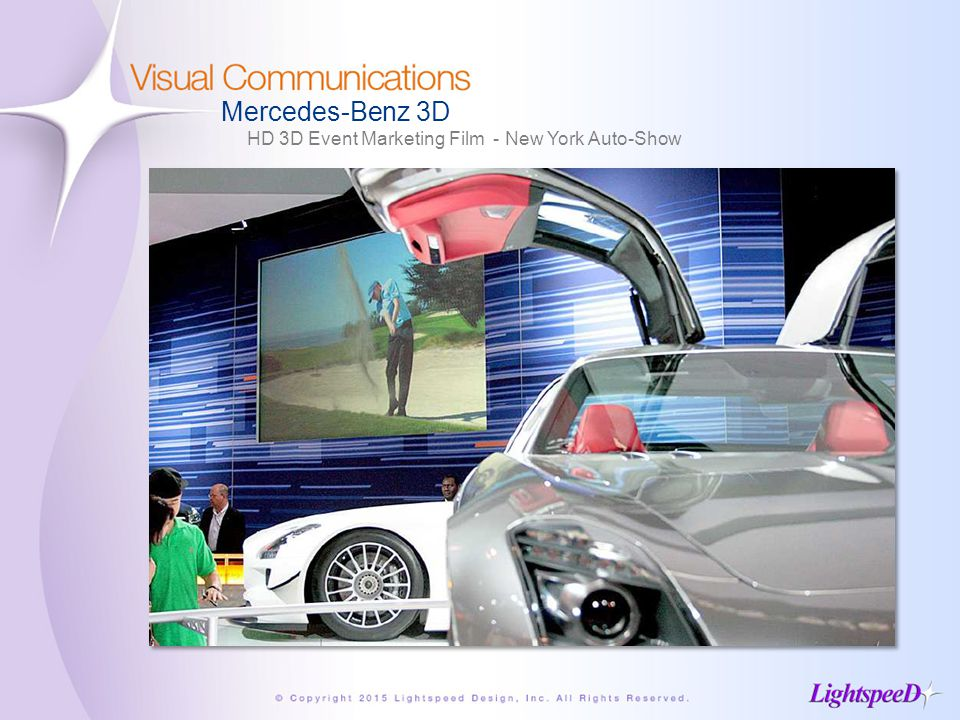 Mercedes-Benz 3D HD 3D Event Marketing Film - New York Auto-Show