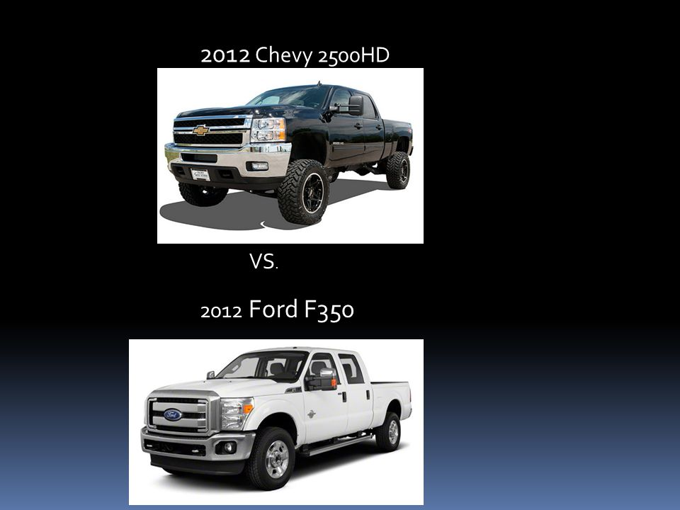 2012 Chevy 2500HD 2012 Ford F350 VS.