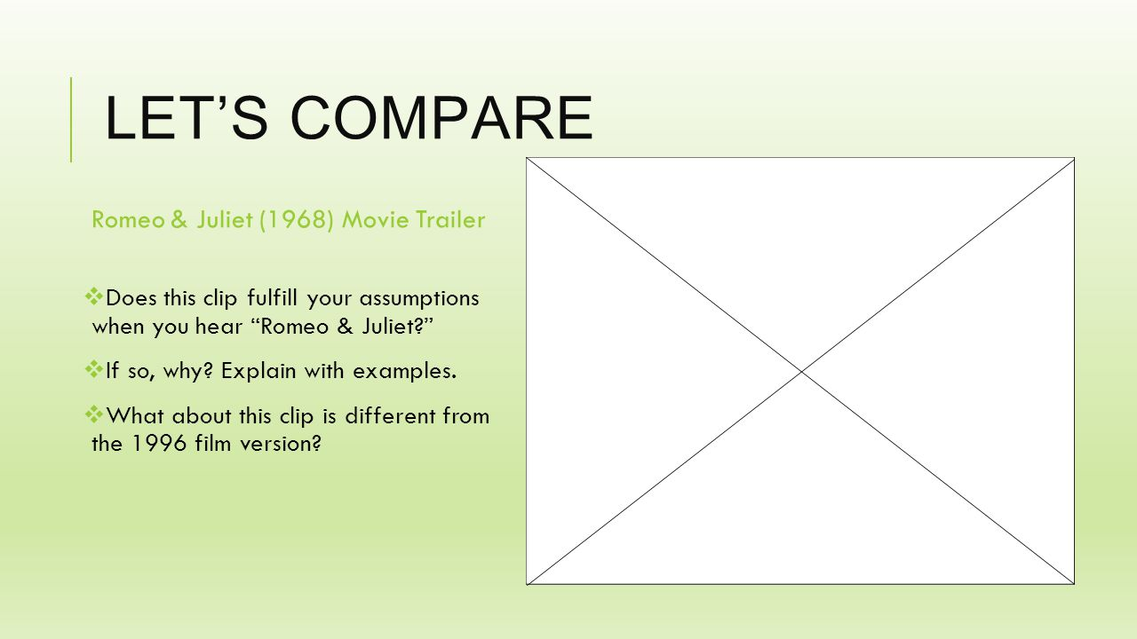 LET'S COMPARE Romeo & Juliet (1996) Movie Trailer  How does this 1996 film version differ from the previous trailer clip.