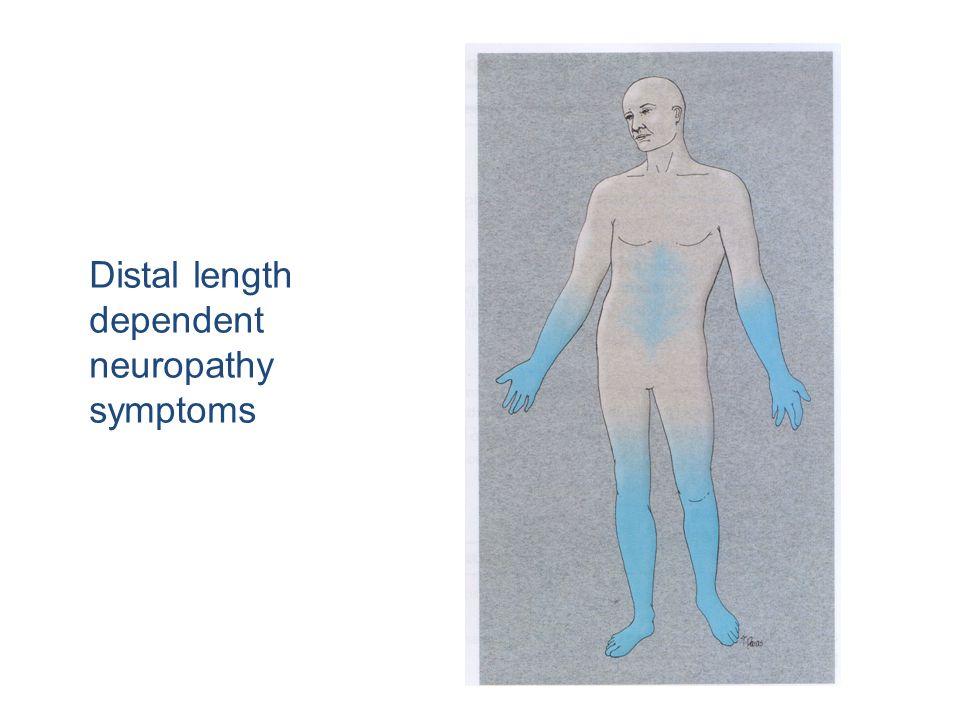 Distal length dependent neuropathy symptoms