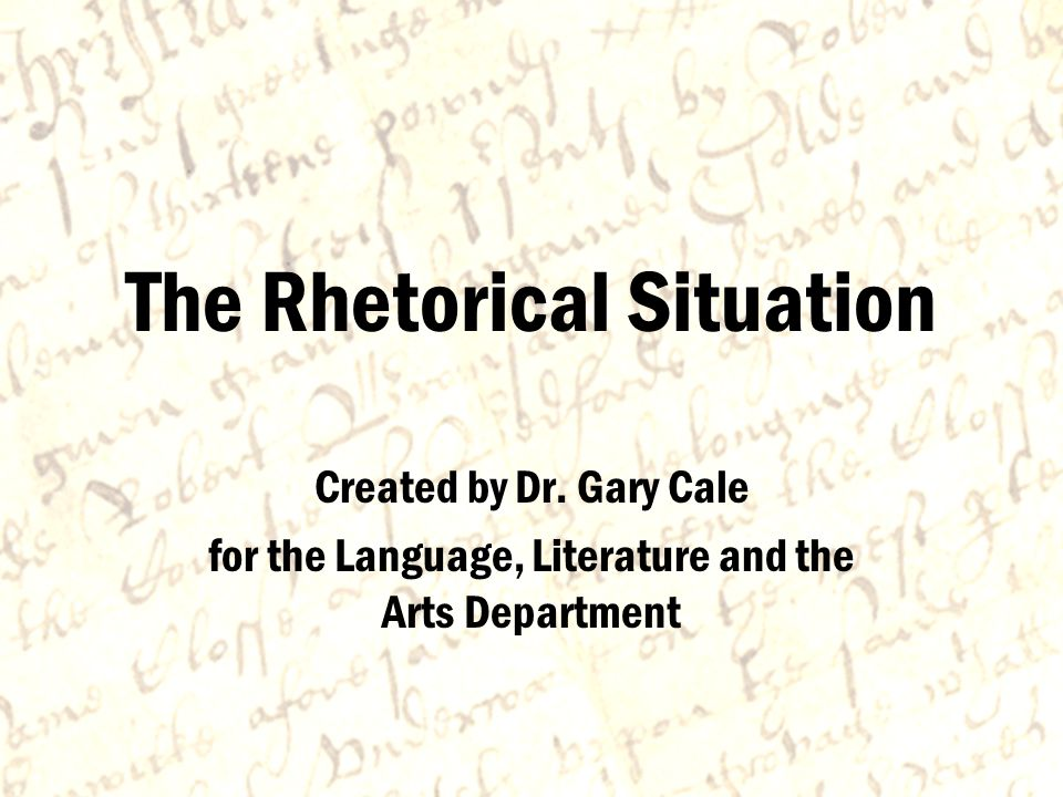 Writer Purpose Audience Topic Context Elements of the Rhetorical Situation Most composition theorists agree that five elements compose the rhetorical situation: writer, purpose, audience, topic and context.