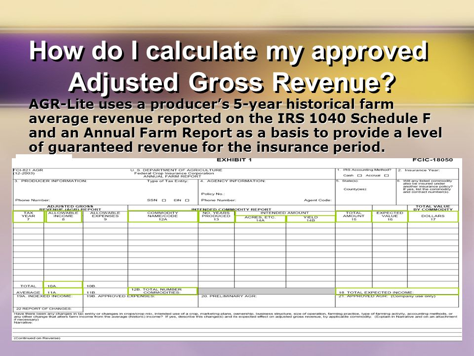 How do I calculate my approved Adjusted Gross Revenue.