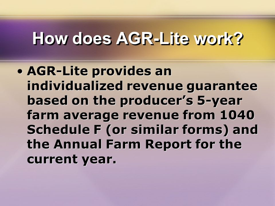 How does AGR-Lite work.