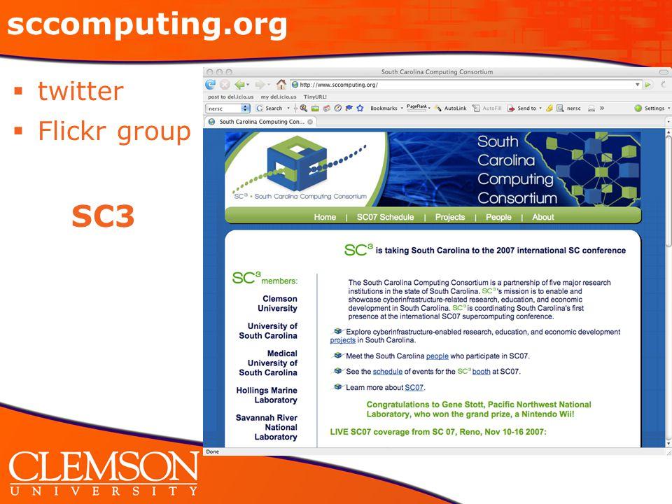 sccomputing.org  twitter  Flickr group SC3