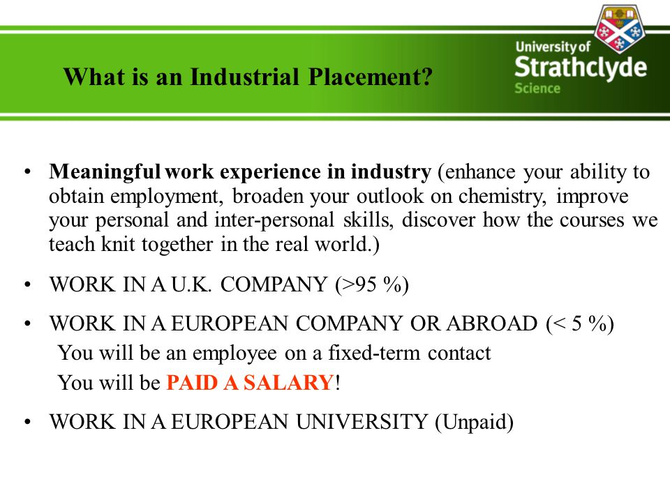 What is an Industrial Placement.