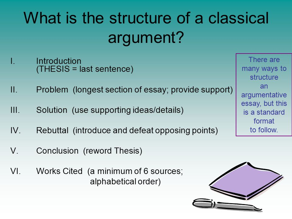 What is the structure of a classical argument.
