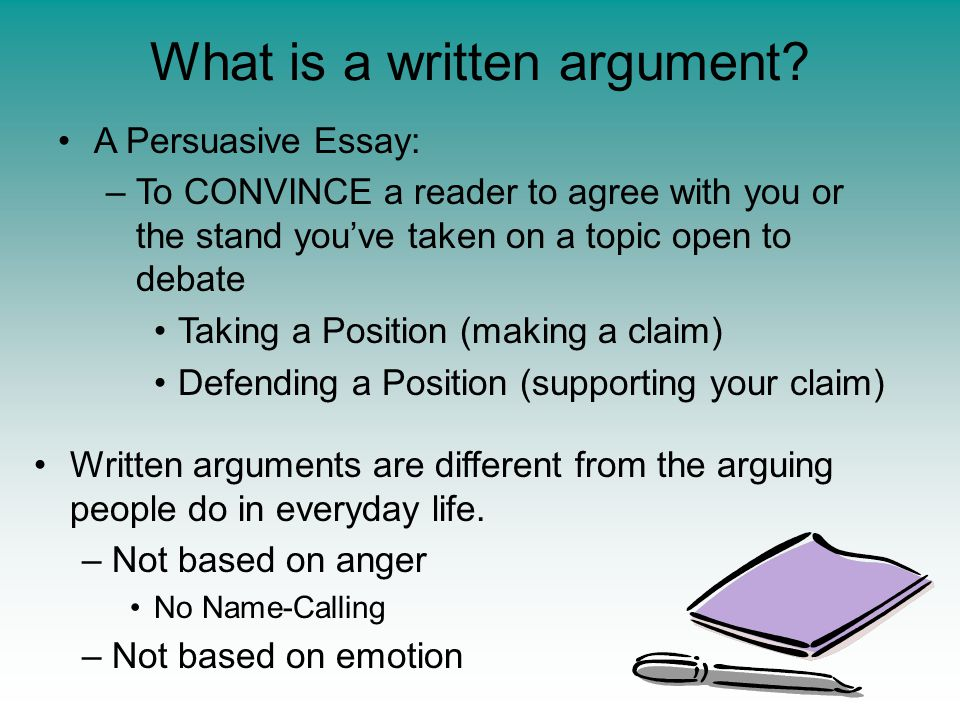 What is a written argument.