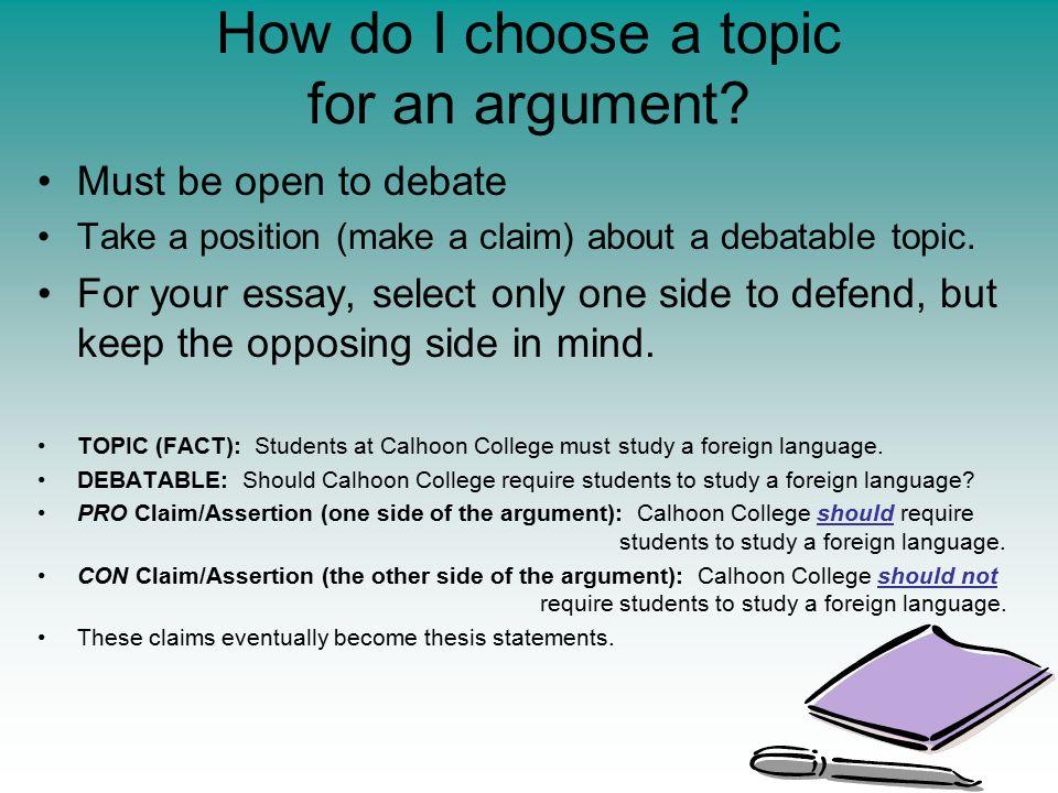 debate topics for college essays