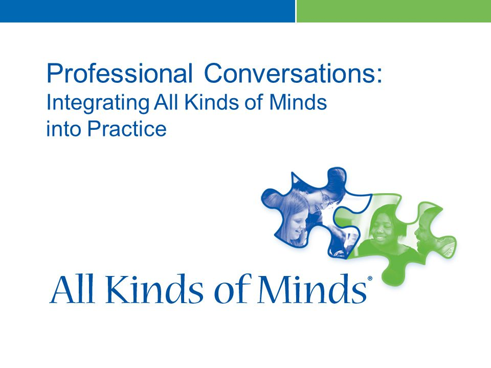 1 Professional Conversations: Integrating All Kinds of Minds into Practice