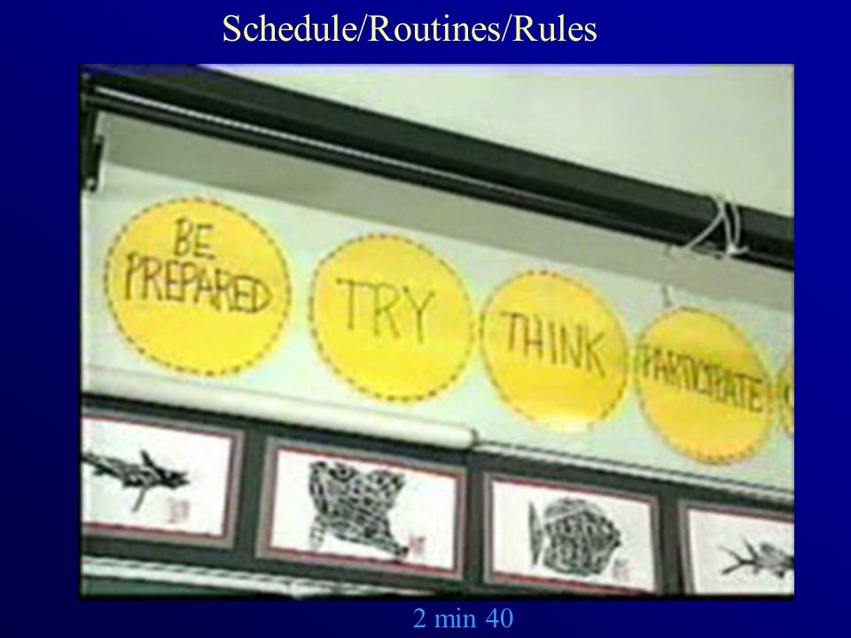 2 min 40 Schedule/Routines/Rules