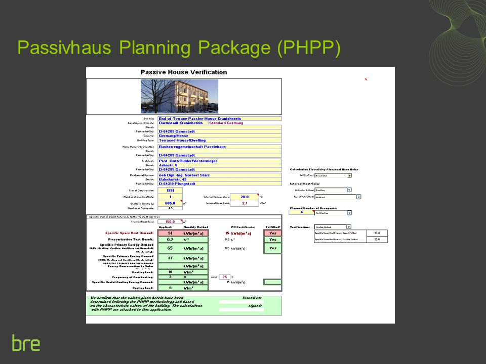 Passivhaus Planning Package (PHPP)