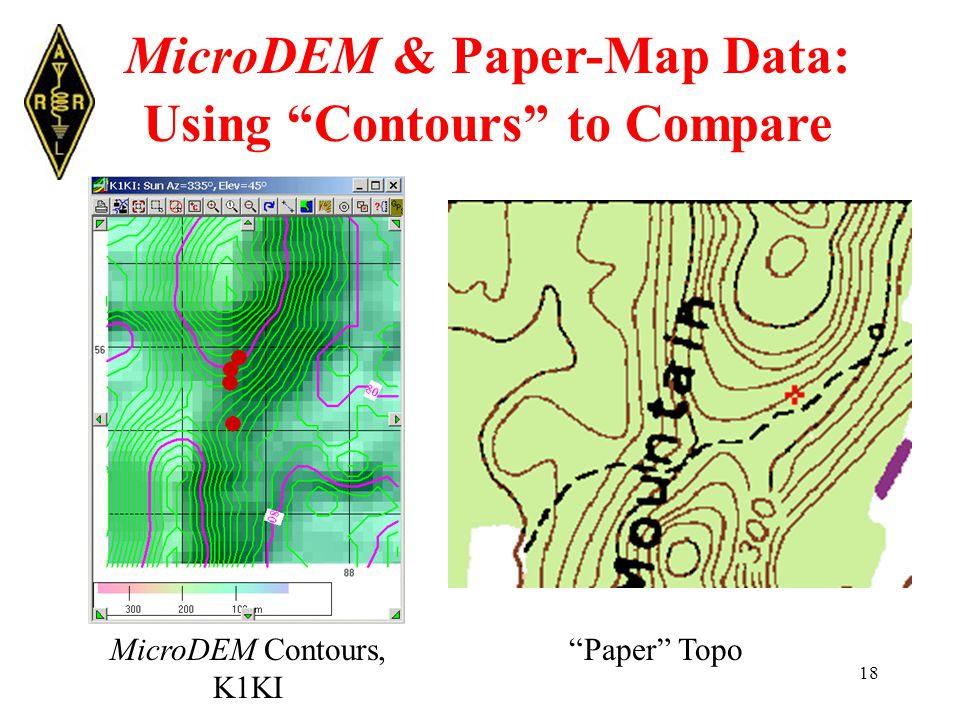 18 MicroDEM & Paper-Map Data: Using Contours to Compare Paper TopoMicroDEM Contours, K1KI