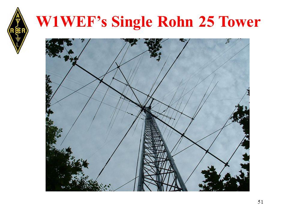 51 W1WEF's Single Rohn 25 Tower