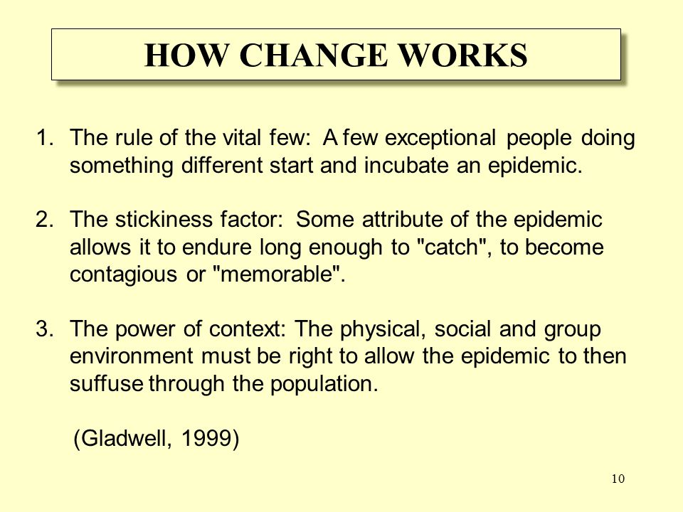 10 HOW CHANGE WORKS 1.