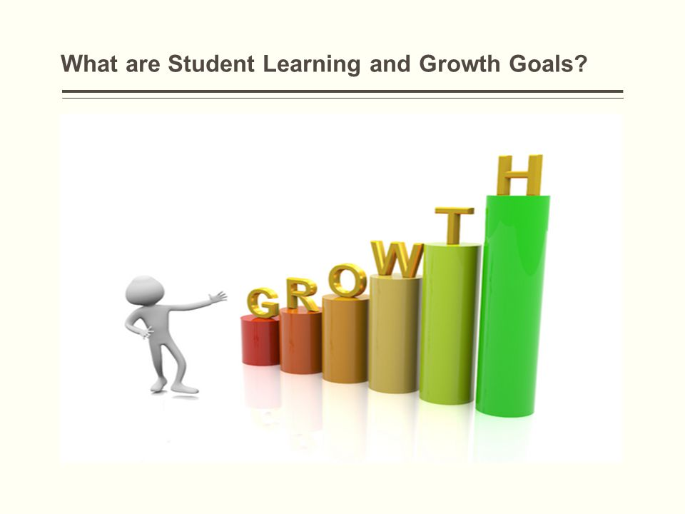 What are Student Learning and Growth Goals