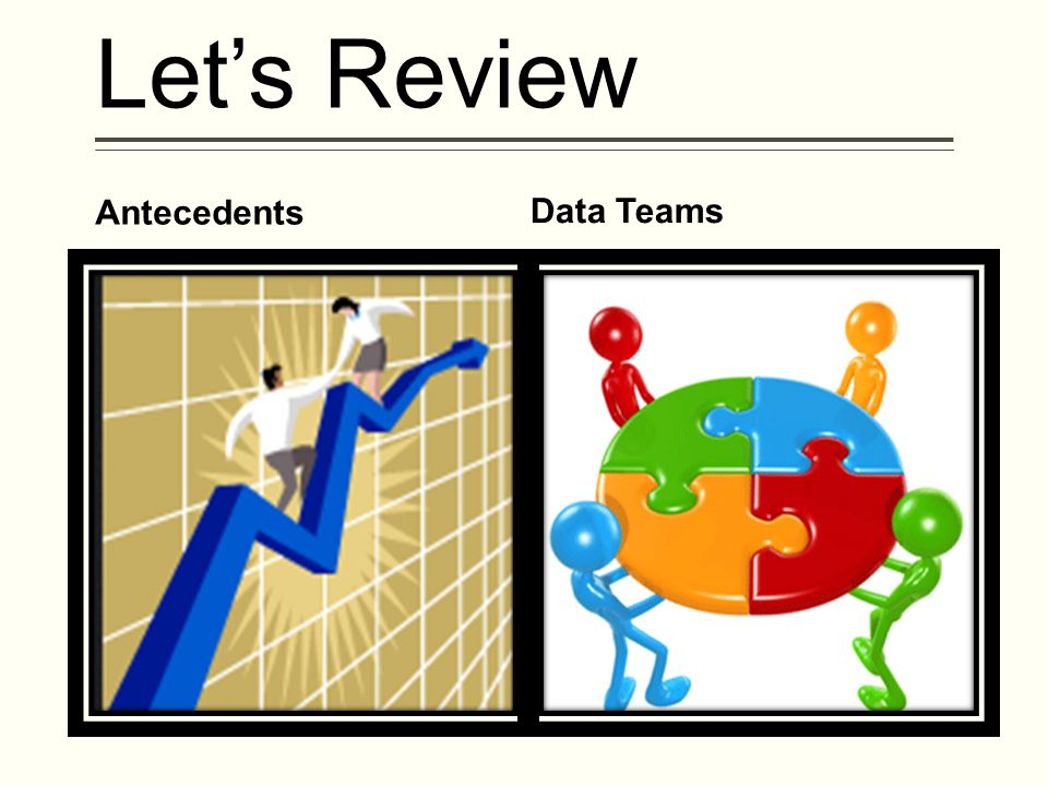 Let's Review Antecedents Data Teams