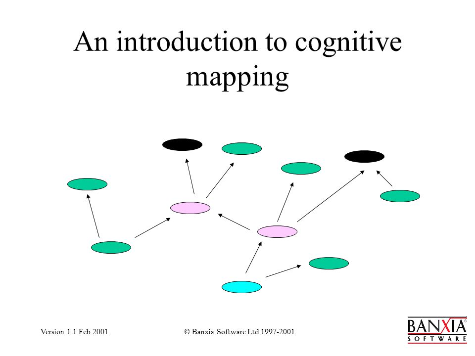 Version 1.1 Feb 2001© Banxia Software Ltd 1997-2001 An introduction to cognitive mapping