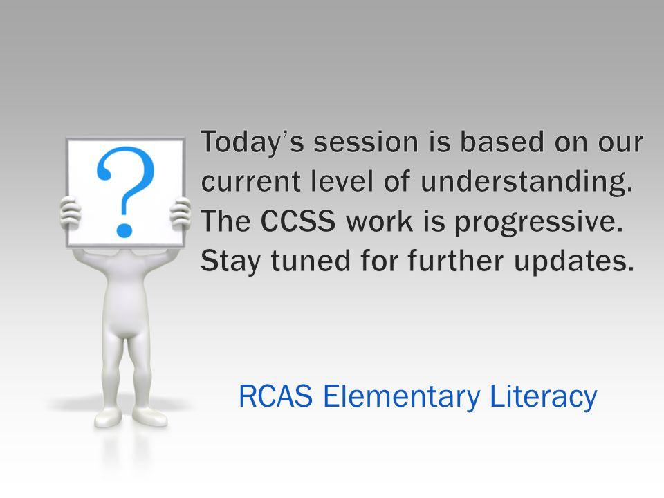 RCAS Elementary Literacy