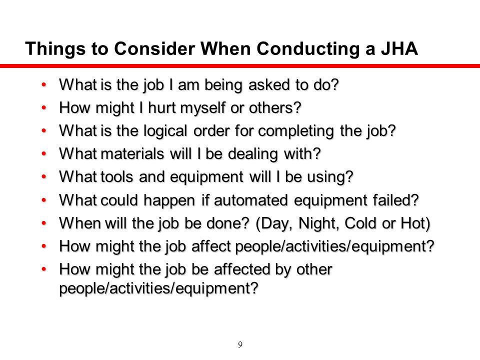 10 JSA Forms Must Have 3 Basic Elements Job Steps Hazards Safe Work Controls