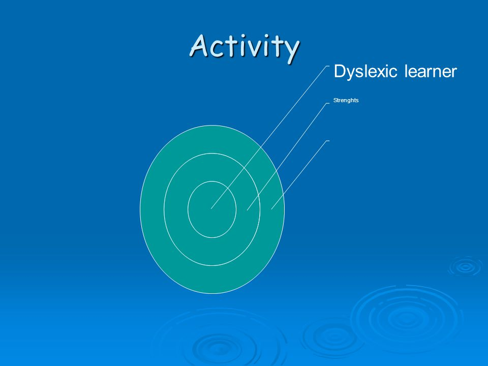 Activity Dyslexic learner Strenghts
