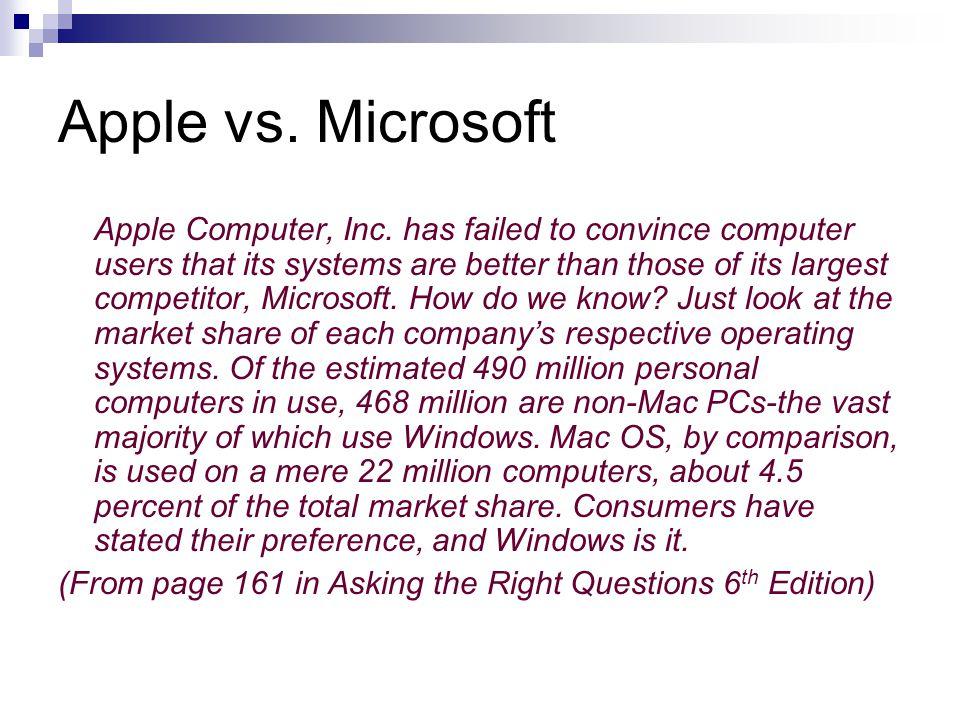 Apple vs.Microsoft Apple Computer, Inc.