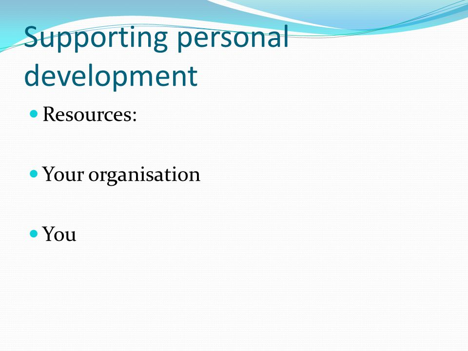 Career development Career exploration : tools, diagnostics, self assessment Career goal – setting: view of opportunities in the sector.
