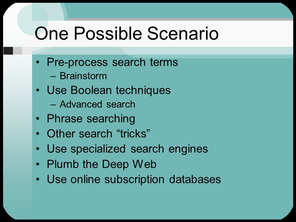 Web search engines can locate every page on the Web Search engines are the only search tools on the Web Webmasters can fool a search engine into ranking a page more highly in its search results Eileen Stec, Rutgers, ALA Preconference 1/03